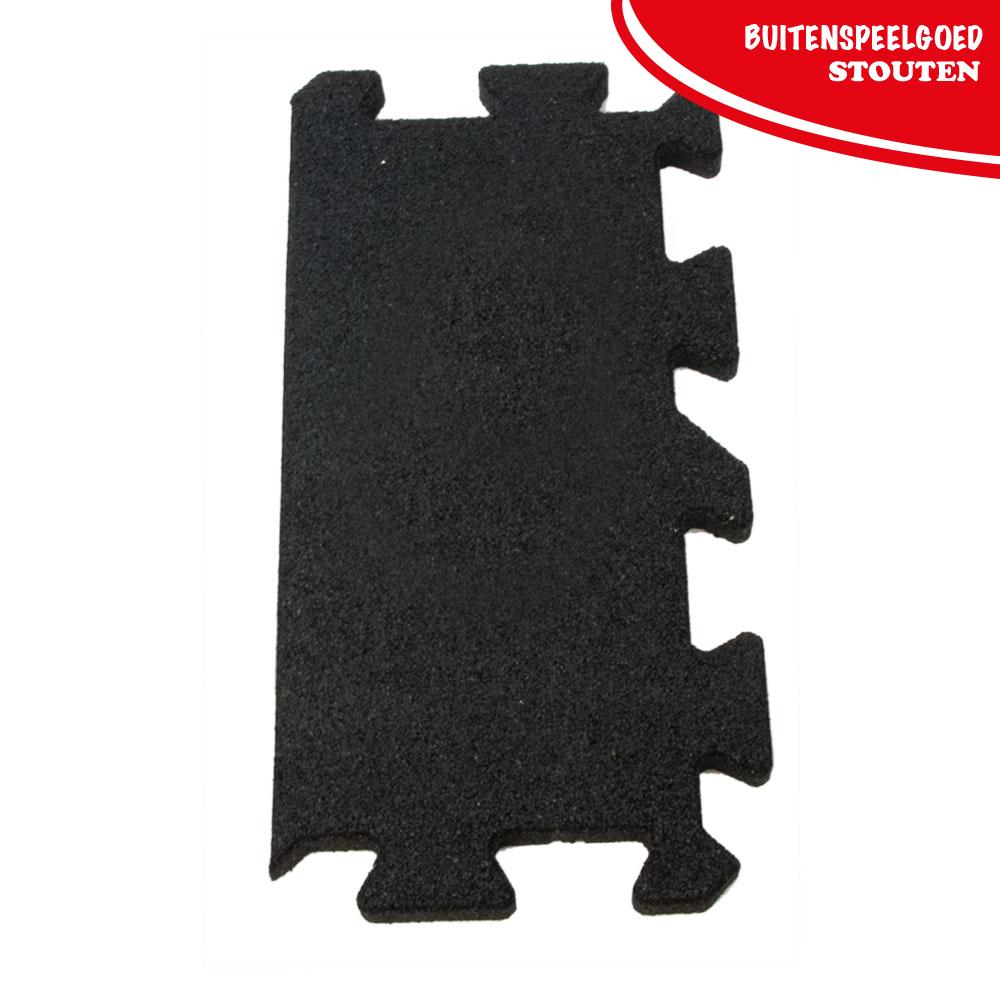 Rubber Matten Speeltoestel.Rubber Puzzel Tegel Zijkant 270 X 540 X25mm