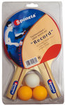 Sponeta Record 2x Tafeltennisbat en 3 ballen