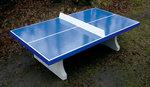 Tafeltennistafel blauw met rechte hoeken