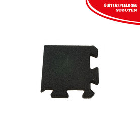Rubber Puzzel Tegel hoektegel  270 x 270 x25mm
