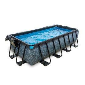 Zwembad Frame Pool 400 x 200 x 100 cm Stone Grey