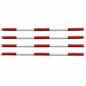 Hindernisbalken - rood - wit